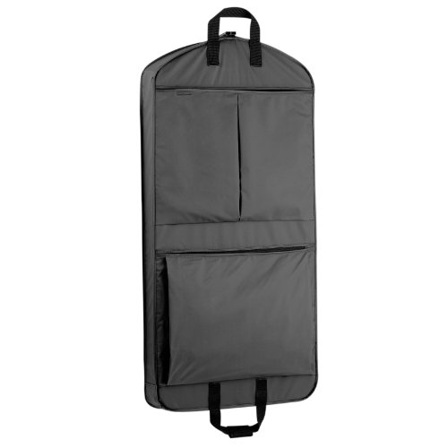 WallyBags 45' Extra Capacity Garment Bag with Pockets, Black, 45 inch