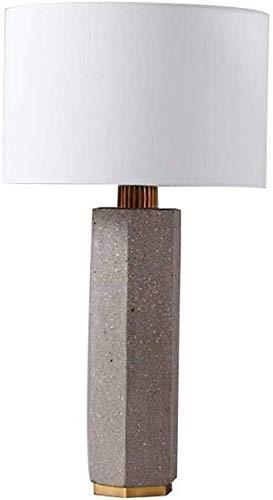 Lámpara de mesa de cemento altillo polígono rectángulo moda retro estilo americano personalidad creativa lámpara de la lámpara de cabecera ojo creativo 76 * 77 cm hermosa