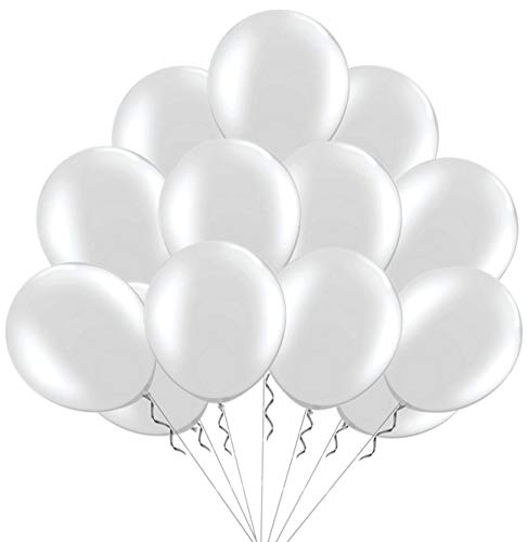 Elecrainbow 100 Pack 12 Inch 2.8 g/pc Thicken Clear Balloons,Transparent Color for Party Supplies and Decorations