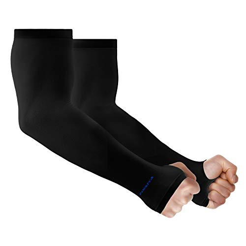 Achiou Arm Sun Sleeves Compression UV Protection Cooling for Men Women Summer Sunblock, Cycling Driving Golf Running