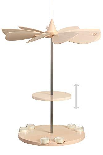Volkskunstwerkstatt Unger Deckenpyramide -Hängepyramide unbestückt 2-stöckig - Pendulum - Echt Erzgebirge® #3390