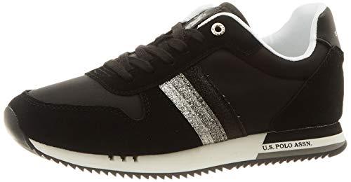 U.S. POLO ASSN. Alfea1, Sneaker Donna, Nero (Blk 004), 39 EU