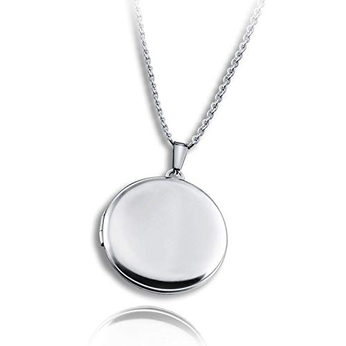 PHOCKSIN Locket Necklace That Holds Pictutes Memory Round Shaped Necklace for Women Men