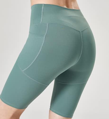 Nupcknn Pantalones Cortos Deportivos para Mujer Pantalones Cortos de Yoga Verde Claro