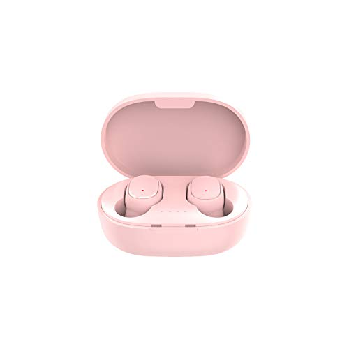 TwiHill a6s pro tws fones de ouvido sem fio esportes auriculares bluetooth 5.0 fone de ouvido para XiaoMi HuaWei oppo samsung telefone (Cor de rosa)
