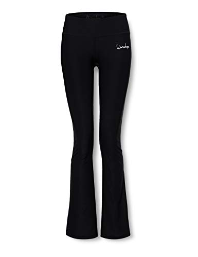WINSHAPE Damen Functional Boot Cut Leggings BCL102, schwarz, Slim Style, Fitness Freizeit Sport Yoga Workout, S