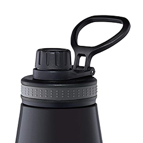 Borosil - Stainless Steel Hydra Gosports - Vacuum Insulated Flask Water Bottle, 900 ML, Black