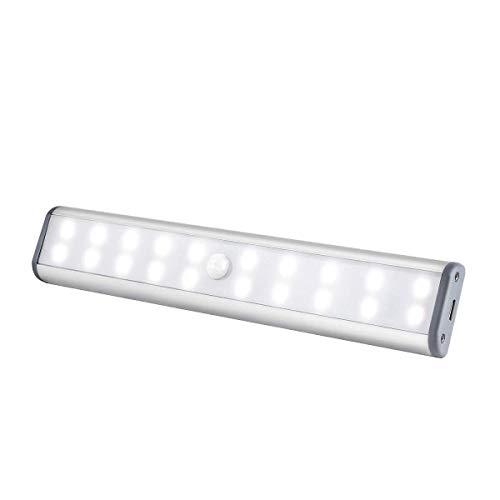 CHAW Luz Del Sensor de Movimiento de La Luz Del Armario Iluminación de Inducción Automática Recargable Debajo de La Iluminación Del Armario Gabinetes de Cocina