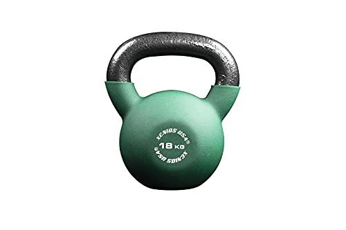 Xenios USA Fitness Kettlebell, Kettlebell-18 kg. Unisex Adulto, Nero, 18 kg