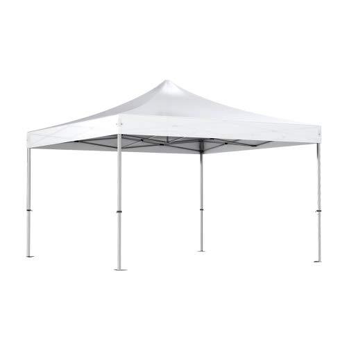 Interouge - Pavillon Faltzelt 4x4m Aluminium Zelt Marktstand Marktzelt Gartenzelt Messestand - Weiß