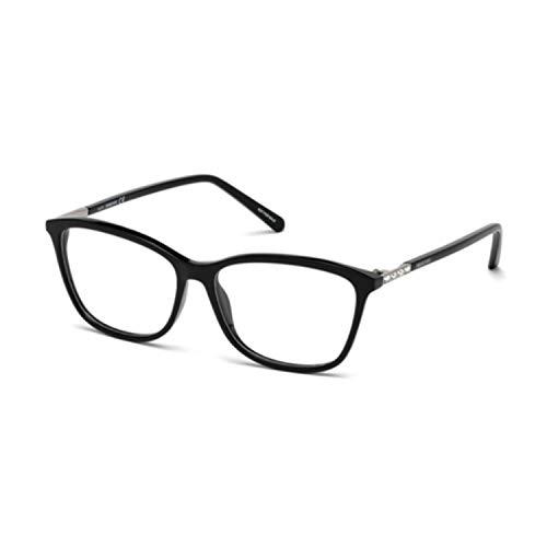 Swarovski Occhiali da vista donna 5223 001 nero squadrato black eyeglasses cal.53