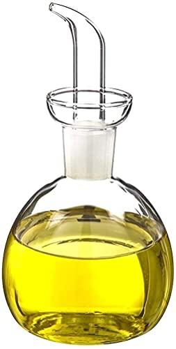TIENDA EURASIA Aceitera Antigoteo de Cristal - Aceitera Redonda para Cocina (250ML)