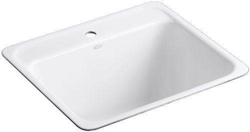 Big Sale Best Cheap Deals Kohler K-6663-1U-0 Glen Falls Undercounter Utility  Sink with One-Hole Faucet Drilling, White