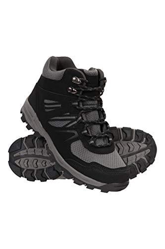 Mountain Warehouse McLeod Bequeme Stiefel für Damen - Atmungsaktive Stiefel, strapazierfähige Wanderstiefel, gepolsterte Wanderschuhe - Ideal für Trekking und Reisen Schwarz Jet 40 EU