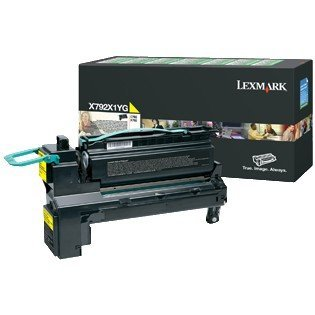 Lexmark X792X1YG - Cartucho de tóner láser para impresoras Lexmark X792X1YG, Color Amarillo