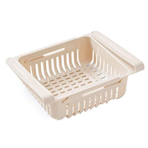 Baslinze Ausziehbarer Kühlschrank Aufbewahrungsbox Halter Lebensmittel Organizer Schublade Regal Richtig
