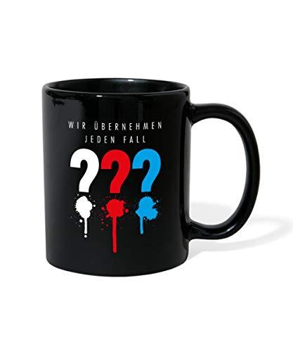 Die Drei Fragezeichen Wir Übernehmen Jeden Fall Tasse einfarbig, Schwarz