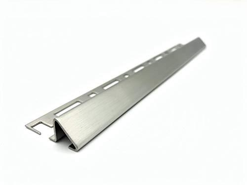 ProDiva TRIANGOLO - Edelstahl V4A Premium Qualität - Ausgleichsprofil, Höhenausgleich, Übergangsprofil, Fliesenprofil (Gebürstet, 10 mm) - Länge 2,50 m