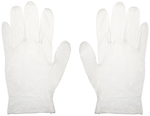 Ambitex Tradex International Powder-Free Vinyl Exam Gloves, Large, Clear, Box Of 100