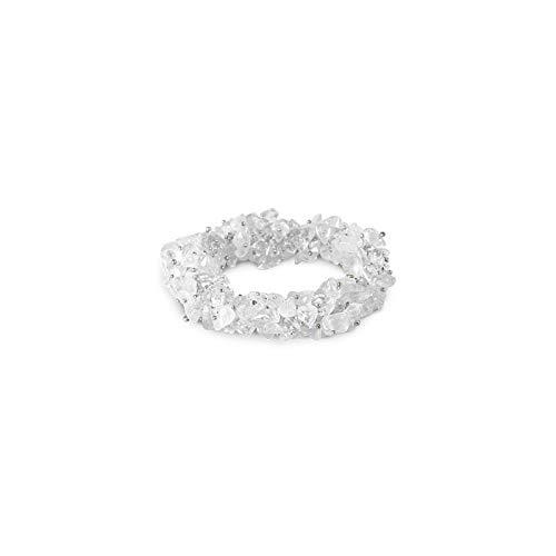 Ruben Robijn Splitarmband Cluster Bergkristal