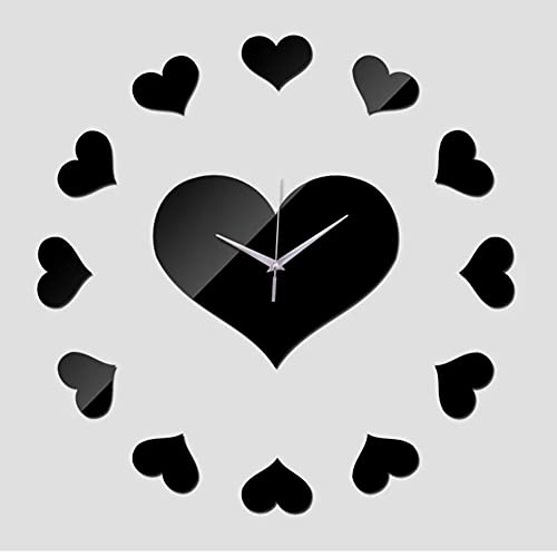 cbvdalodfej Reloj de Pared de acrílico para el hogar, decoración, Relojes con Espejo, Caja Fuerte, Reloj de Cuarzo Digital, Pegatina para Sala de Estar