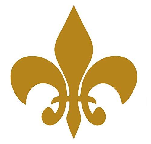 CCI Fleur De Lis Iris Royal Arms France Decal Vinyl Sticker|Cars Trucks Vans Walls Laptop|Gold |5.5 x 5.5 in|CCI2029