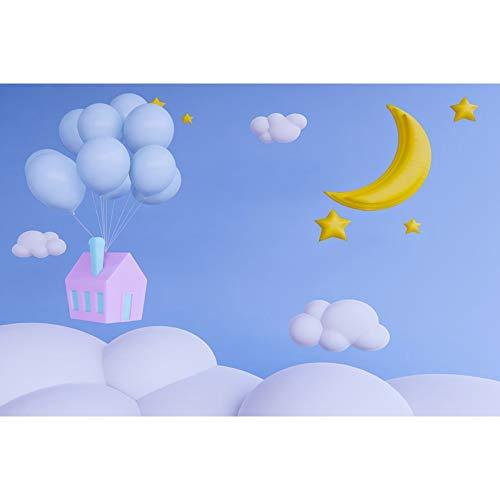 Star Moon Light Bokeh cumpleaños bebé recién Nacido fotografía telón de Fondo decoración sesión fotográfica Accesorios de Fondo para Fotos A16 10x7ft / 3x2,2 m