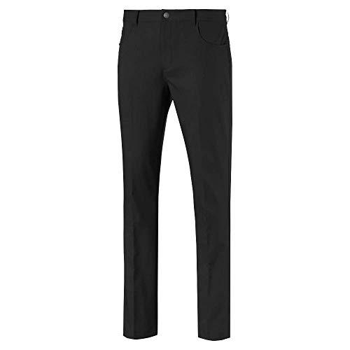 PUMA Pantalón de Golf 2019 Jackpot 5 Bolsillos, Hombre, Pantalón, 577975, Negro (puma Black), 38W / 32L