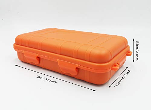 Zest ST TSTZTE Anti-Pressure Shockproof Container Box Plastic Dry Storage Box with Foam Floating Survivor Dry Case for Outdoors Waterproof Container (Orange Big)