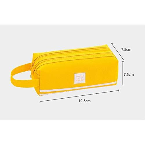 Achicoo Kreatives Federmäppchen, einfaches großes Fassungsvermögen, Schreibwarenbox, Schulbedarf gelb