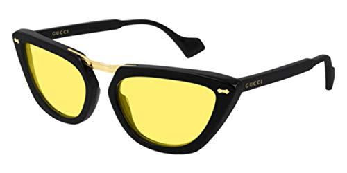 Gucci GG0616S Black/Yellow (002 YU) zwart/zonnebrillen nieuw 0616 2019