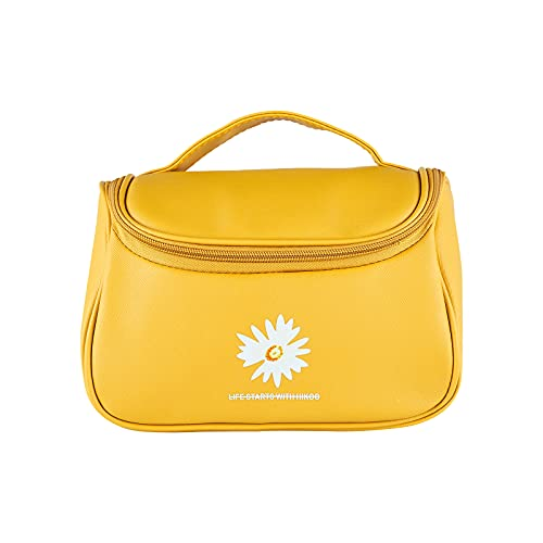 MBVBN Bolsa de cosméticos portátil de viaje para mujer, piel sintética, lavable, impermeable, bolsa de almacenamiento de cosméticos