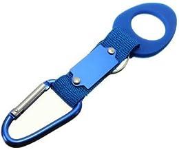RanDal Aluminiowy karabińczyk kemping wędrówki uchwyt na butelki z kółkiem na klucze - niebieski
