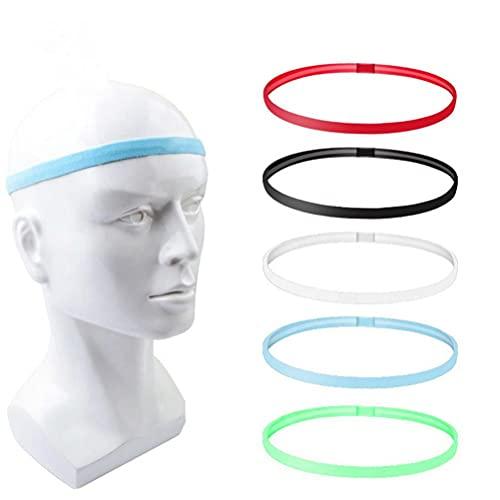 WINBST 3 diademas deportivas, antideslizantes, elásticas, para correr, fitness, yoga