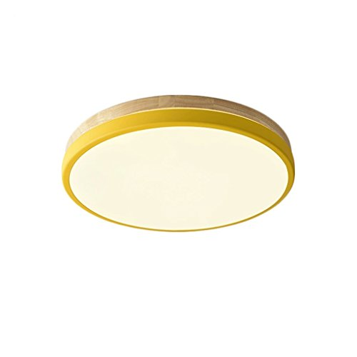 TXC- Nordic plafondlamp geleid Japanse stijl eenvoudig massief hout sfeervolle woonkamer lamp Thuis rechthoekige round slaapkamer lamp Verlichting (Color : B)