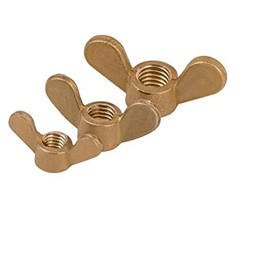 Kupferschmetterlingsmutter, Blockmutter, Croissantmutter, Handschraube Kupfermutter,-M8 (1)