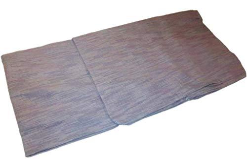 1527 遠州織 綿麻 しじら織 男着物 単衣 浴衣 透かし織 鳩羽鼠・灰藤色の五月雨 (5L)