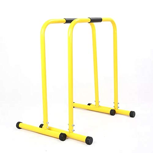 Pull Up Bars Dip Parallel Bars Push Up Stands Sit-ups Dip Station Power Tower Home Gym Strength Training Equipment, Multifunction, Height Adjustment (Color : Yellow, Size : Not Adjustable)