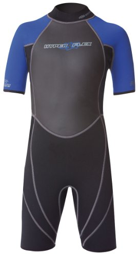 Hyperflex Wetsuits Junior's Access 2mm Spring Suit- Surfing, Windsurfing & Wakeboarding - Black/Blue, 12