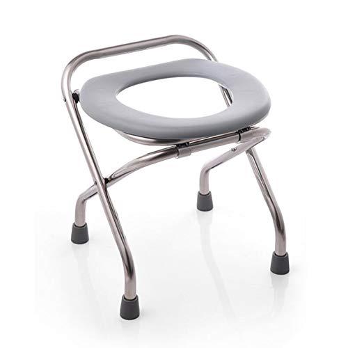 AYHMT Klappbarer WC-Stuhl/Toilettenstuhl, Tragbare Camping-Toilette, Geeignet Für Schwangere/Ältere Menschen/Behinderte (schwarz, Grau)