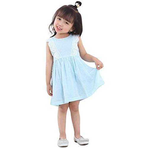 YUAN YUAN Baby Mädchen Kleid, Kleinkind Kids Lace Sleeveless Party Pageant Prinzessin Kleidung