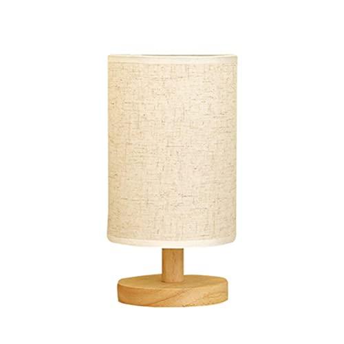 SHARRA Lámpara de Noche, Lino Minimalista LED Lámpara de Mesa Moderna con Pantalla de Tela Luz de Noche LED con Control Remoto Lámpara de Escritorio para Sala de Estar, Dormitorio, Oficina Decorativa