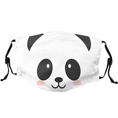 Lulupi Kinder Mundschutz Multifunktionstuch Lustig Animal Print Maske Waschbar Baumwolle Stoffmaske Staubdicht Atmungsaktiv Mund-Nasen Bedeckung Panda Tiermotiv Halstuch Schals