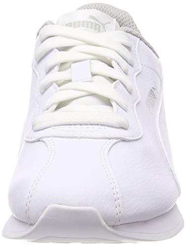 PUMA Turin II Jr, Zapatillas Unisex Niños, White White, 35.5 EU