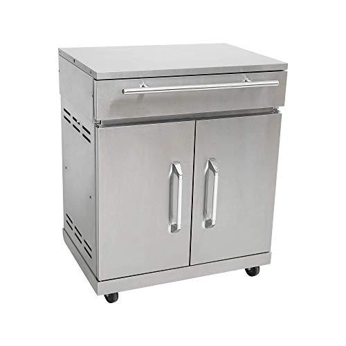 Mayer Barbecue Erweiterungsschrank Zusatzschrank, Edelstahl, für Gasgrill MGG-342/362 Master, auch alleinstehend nutzbar