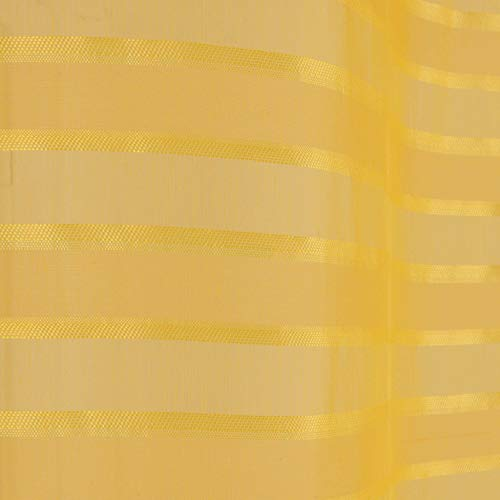 Douceur d' interno tenda a occhielli 140x 280cm sabbia Graffia Riane, Poliestere, giallo, 280x 140cm