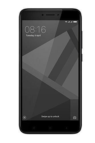 """Xiaomi Redmi 4x - Smartphone libre de 5"""" (4G, WiFi, Bluetooth, Snapdragon 435 1.4 GHz, 32 GB de ROM ampliable, 3 GB de RAM, cámara trasera de 13 Mp, Android MIUI, dual-SIM), negro [versión española]"""