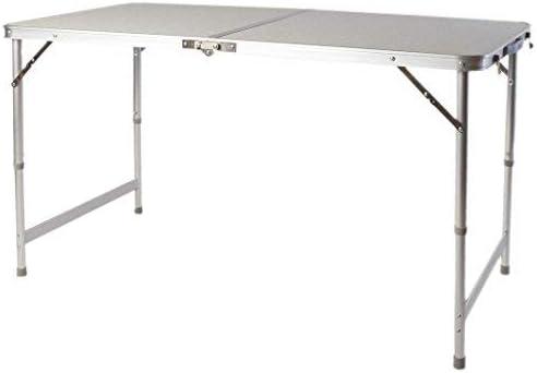 Spetebo Mesa plegable XXL de aluminio, 120 x 60 cm, altura regulable