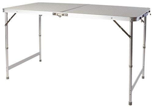 Spetebo Table pliante XXL en aluminium 120 x 60 cm – Hauteur réglable – Table de camping Table de jardin