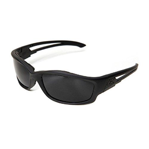 Edge Eyewear Blade Runner - Gafas de sol, marco negro mate con junta/lente de escudo de vapor G-15